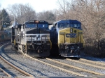 NS 9295 & CSX 7848